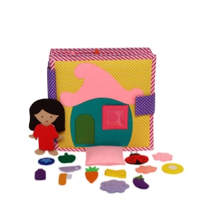 Me All Day - Doll House Quiet Book- Everyday Routine Quiet Book